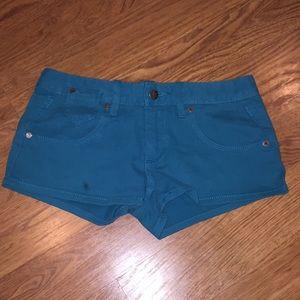 Roxy turquoise denim shorts